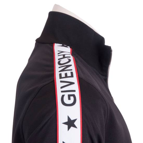 Givenchy Black Technical Jersey Jacket With Logo Banded Sleeves Size US L / EU 52-54 / 3 - 4