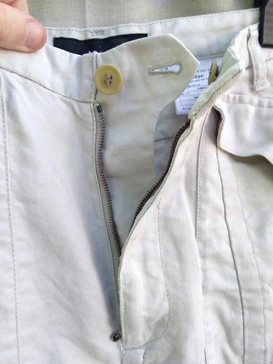 Julius Gas Mask Cargo Shorts White Bamboo Twill ss12 Size US 30 / EU 46 - 4