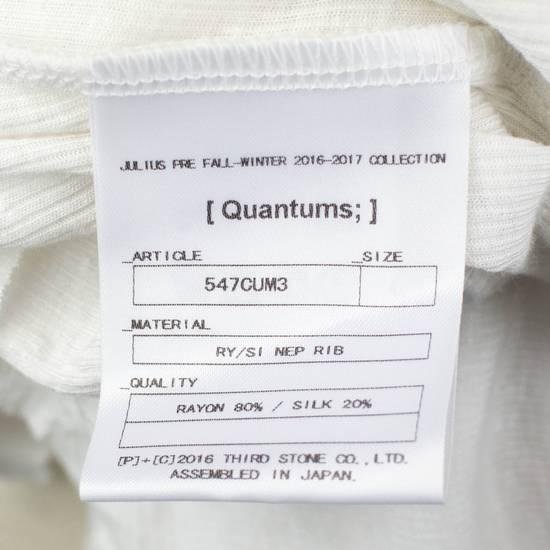 Julius 7 White Silk Blend Long Sleeve Long Ribbed Crewneck T-Shirt 4/L Size US L / EU 52-54 / 3 - 5