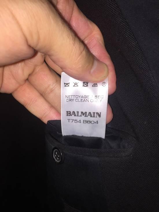 Balmain Black Tuxedo Blazer Size 50S - 5