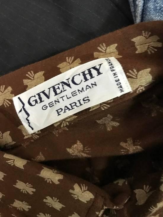 Givenchy Luxury Designer GIVENCHY Gentleman Paris Made in France Atomic Print Retro Collar Shirt Size US M / EU 48-50 / 2 - 6