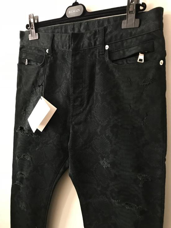 Balmain Size 32 - Distressed Snake Print Rockstar Jeans - FW17 - RARE Size US 32 / EU 48