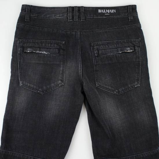 Balmain Blue Denim Distressed Slim Fit Biker Jeans Pants Size US 30 / EU 46 - 4