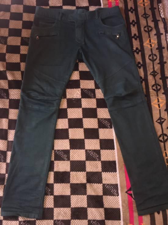 Balmain FINAL DROP!!! Green Biker Balmain Jeans Size US 34 / EU 50 - 1