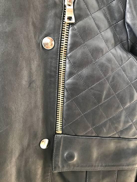 Balmain Quilted Leather Biker Jacket Size US M / EU 48-50 / 2 - 1