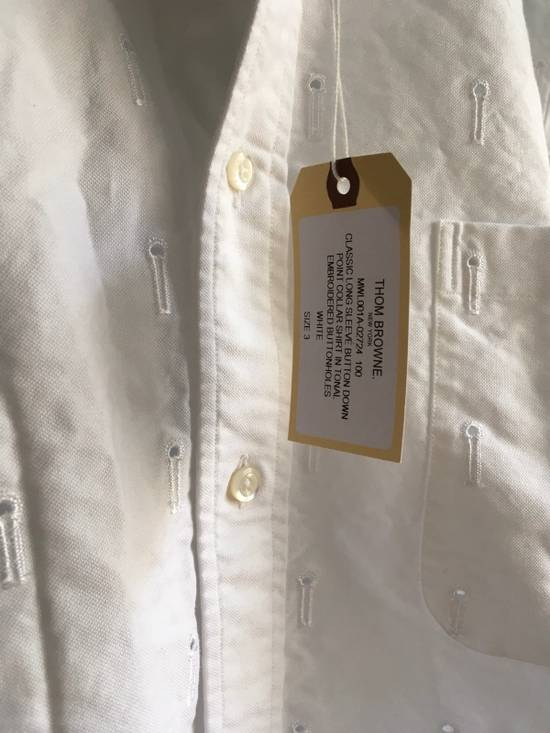 Thom Browne Button-Down Collar Embroidered Cotton Oxford Shirt, White Size3/Medium Brand New With Tags Size US M / EU 48-50 / 2 - 1