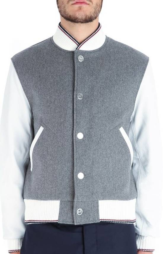 Thom Browne Size 0 New Wool Leather Varsity Bomber Size US XS / EU 42 / 0