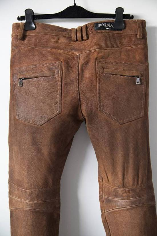 Balmain 2014 leather biker pants Size US 30 / EU 46 - 4
