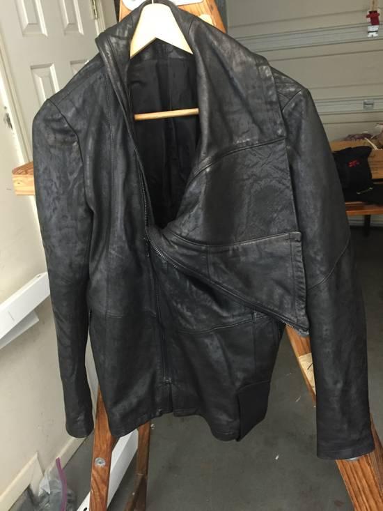 Julius SS17 Treated Lambskin Funnel Neck Jacket Size US L / EU 52-54 / 3 - 2