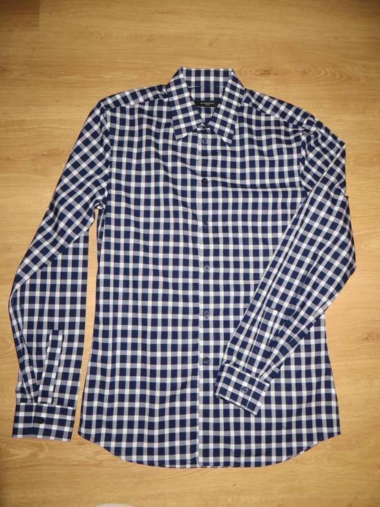 Givenchy Blue check- shirt Size US M / EU 48-50 / 2
