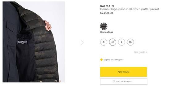 Balmain Camouflage-print shell-down puffer jacket Size US M / EU 48-50 / 2 - 7