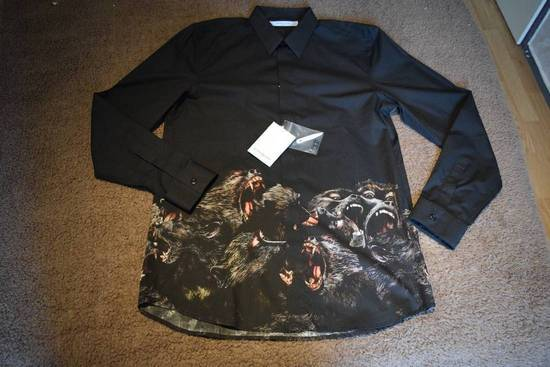 Givenchy Givenchy Authentic $890 Monkey Print Black Shirt Size 40 Brand New With Tags Size US L / EU 52-54 / 3