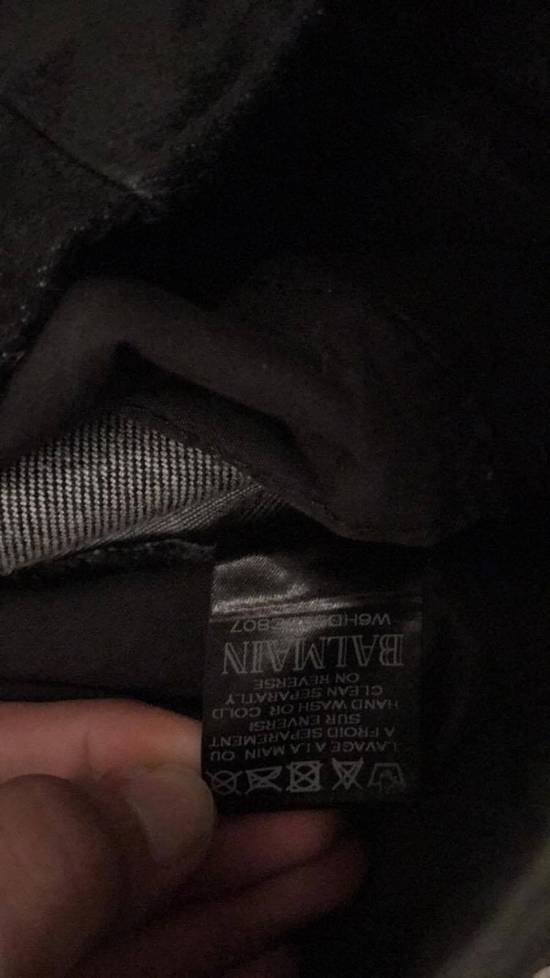Balmain Balmain Black Waxed Biker Jeans Size US 31 - 2