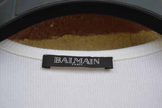 Balmain White Ribbed Long Sleeve T-shirt Size US M / EU 48-50 / 2 - 2