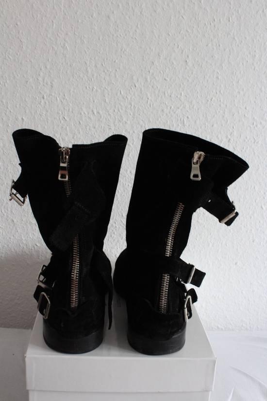 Balmain Suede Strapped Biker Boots Size US 12.5 / EU 45-46 - 4