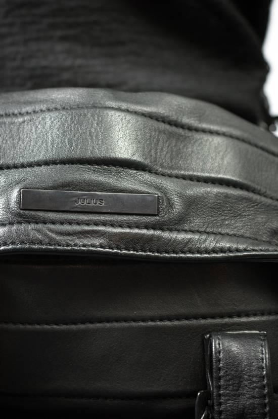 Julius AW09 Black Leather Satchel/Messenger/Shoulder/Tote Bag Size ONE SIZE - 3