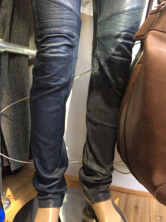 Balmain Balmain Grey Leather Mens Trousers Size US 34 / EU 50 - 1