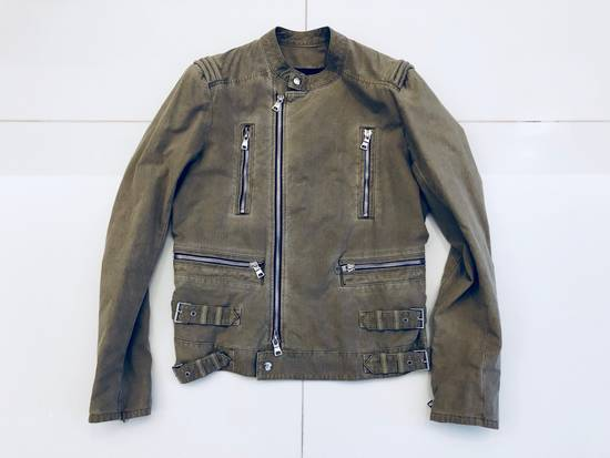Balmain Canvas Biker Jacket Size US M / EU 48-50 / 2