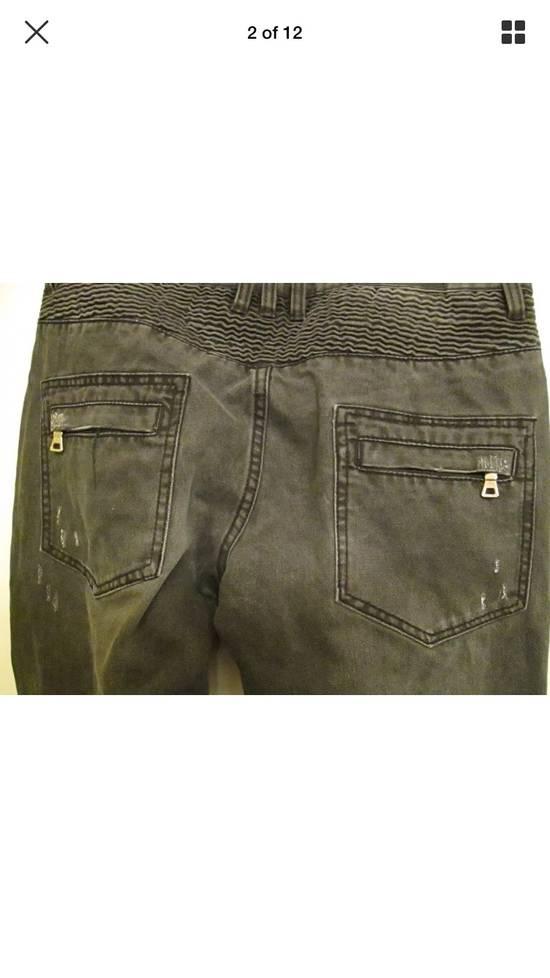Balmain Beautiful Balmain Grey Denim Biker Jeans Size US 34 / EU 50 - 7