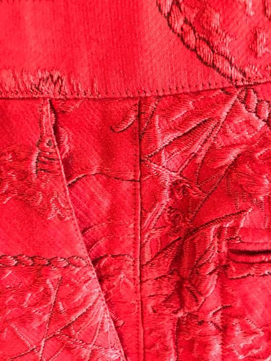 Thom Browne Thom Browne SS13 Tattoo Jacquard Red Silk Shorts (size 1) Size US 30 / EU 46 - 2