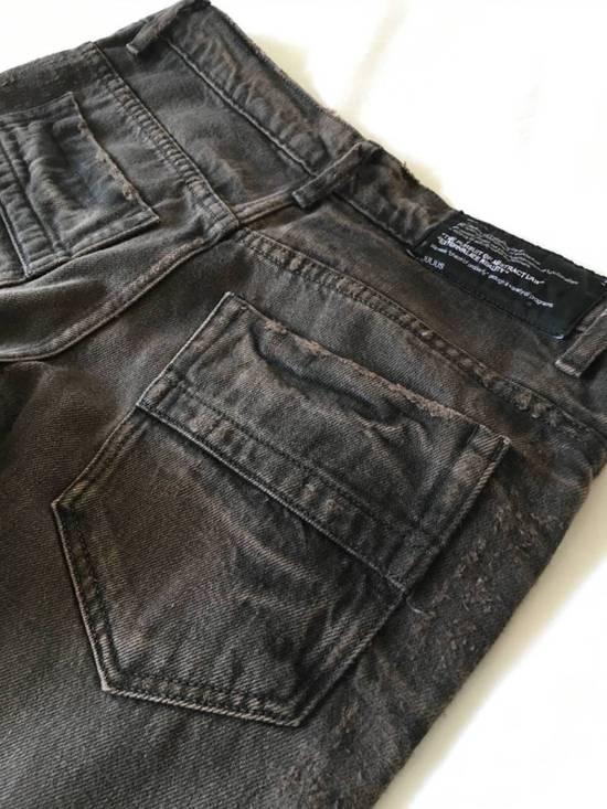 Julius Japan made cropped wrinkle and dirt effect distressed frayed hem Jeans Size US 28 / EU 44 - 14