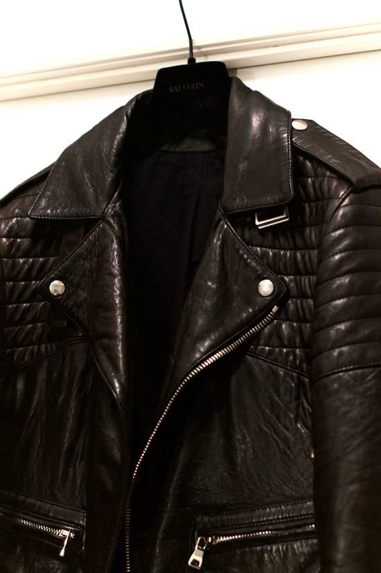 Balmain RARE! Lambskin Leather Biker Jacket Size US L / EU 52-54 / 3 - 2