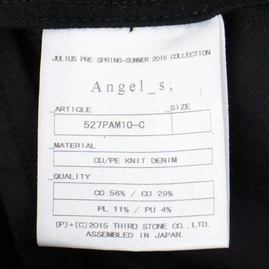Julius 7 Black 'Coated Denim Stretch Zip Pocket' Baggy Jeans Pants 3/M Size US 34 / EU 50 - 6