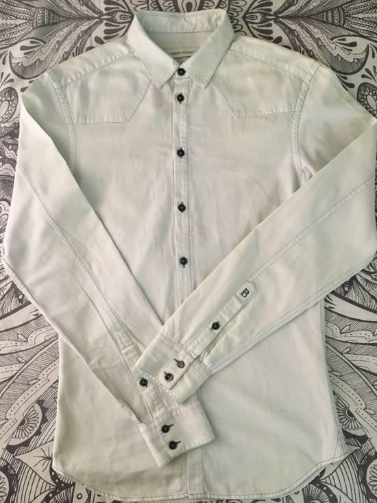 Balmain Bleached out Button Down Denim Shirt Size US S / EU 44-46 / 1