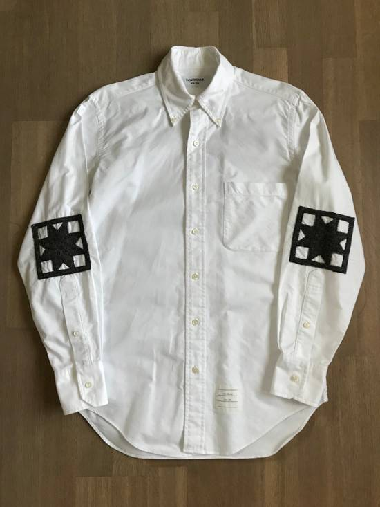 Thom Browne Wool Elbow Patch Oxford Shirt Size US S / EU 44-46 / 1