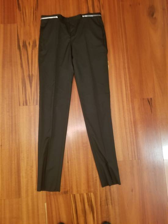 Givenchy Givenchy Black Wool Dress Tailored Pants Zip Detail Zipper Size 52 Brand New Trousers Size 52R - 1