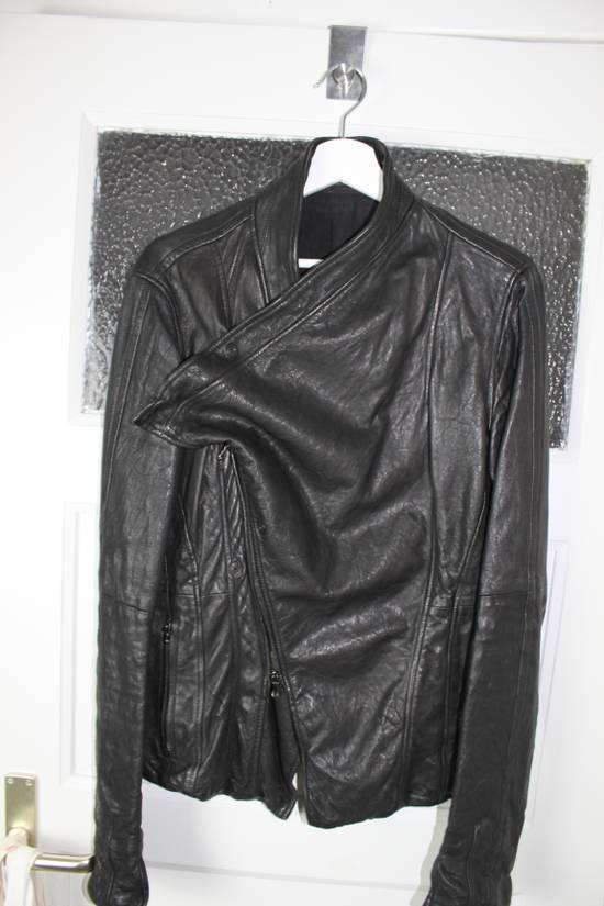 Julius 11aw halo asymmetrical leather jacket Size US M / EU 48-50 / 2 - 10