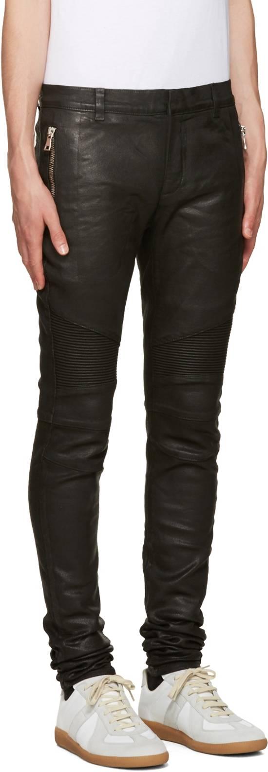 Balmain 1265$ Skinny Coated Stretch Denim Biker Jeans Size US 27