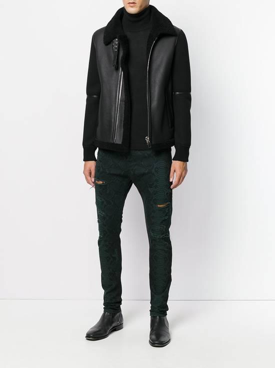Balmain Size 32 - Distressed Snake Print Rockstar Jeans - FW17 - RARE Size US 32 / EU 48 - 11