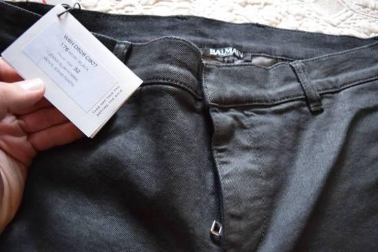 Balmain Balmain Authentic $1090 Waxed Denim Biker Jeans Size 32 Skinny Fit Brand New Size US 32 / EU 48 - 3