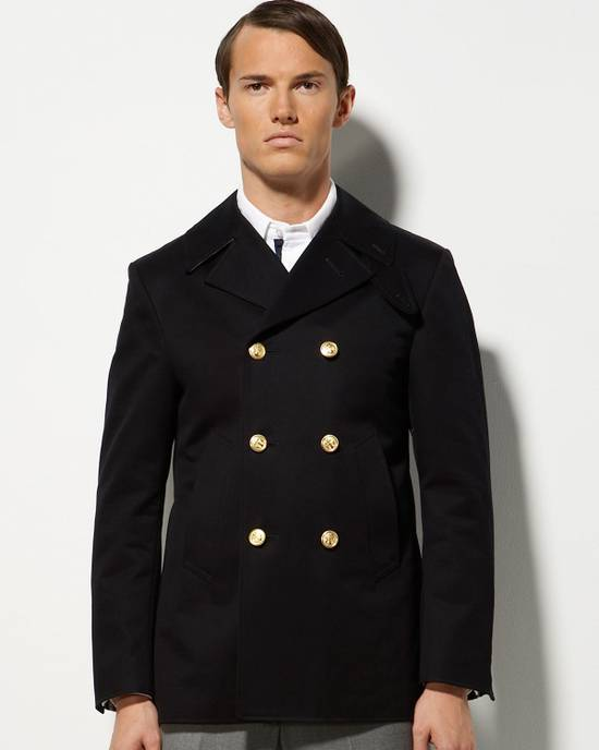 Thom Browne TB Navy Deconstructed Peacoat Size US M / EU 48-50 / 2