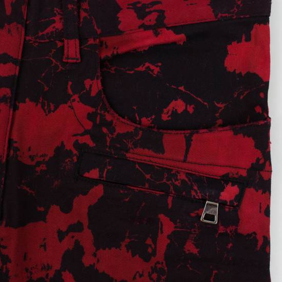 Balmain Red Camouflage Denim Straight Leg Jeans Pants Size US 30 / EU 46 - 5