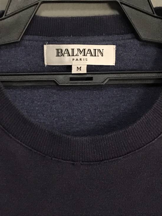 Balmain SWEATSHIRT BALMAIN PARIS EMBROIDERED TUNED COLOURS Size US M / EU 48-50 / 2 - 4