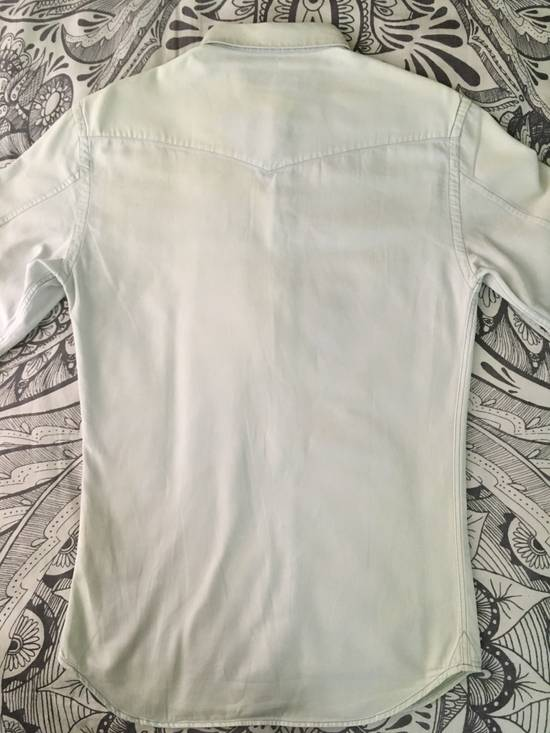 Balmain Bleached out Button Down Denim Shirt Size US S / EU 44-46 / 1 - 3
