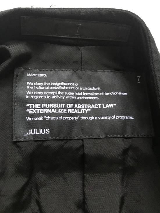 Julius SS12 layered front panel coat Size US M / EU 48-50 / 2 - 9