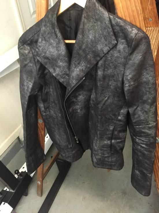 Julius FW07 Black/Silver Coated Cotton Jacket Size US M / EU 48-50 / 2 - 1