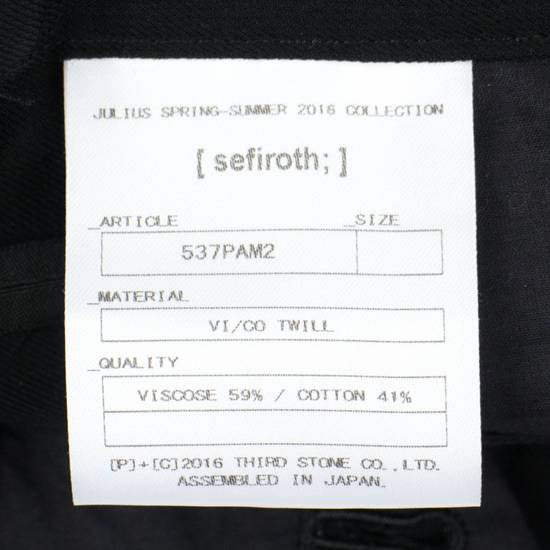 Julius 7 Black 'Slim Drop Crotch' Slim Fit Casual Pants Size 4/L Size US 36 / EU 52 - 6