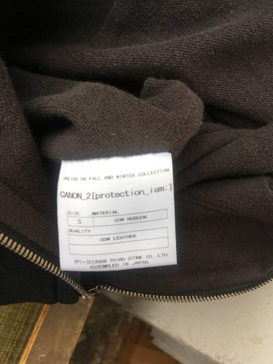Julius Julius leather hood jacket Size US M / EU 48-50 / 2 - 7