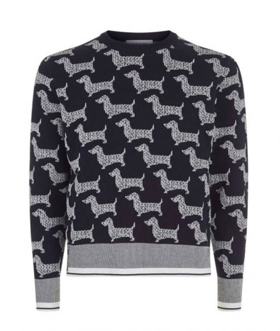 Thom Browne Dog Print Sweater Size US L / EU 52-54 / 3