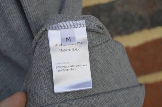 Balmain Grey Ribbed Knit T-shirt Size US M / EU 48-50 / 2 - 4