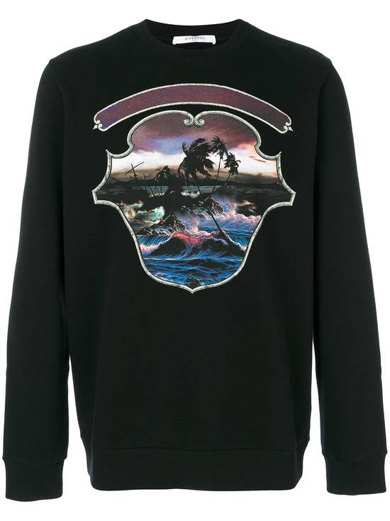 Givenchy $725 Givenchy Hawaii Crest Print Rottweiler Shark Sweater size M (relaxed fit) Size US M / EU 48-50 / 2 - 1