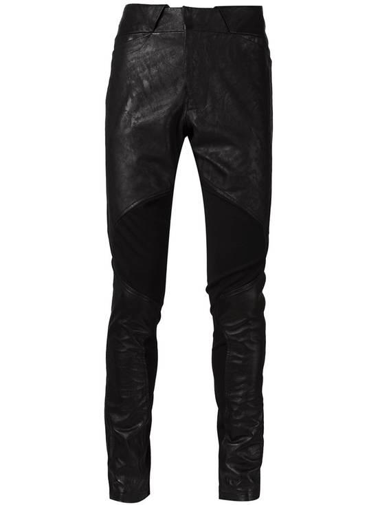 Julius Knee Paneled Leather Biker Pants Size US 30 / EU 46 - 1