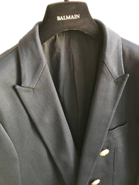 Balmain Slim Fit Cotton Navy Blazer Size 44R - 1