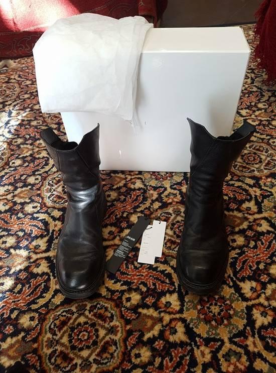 Julius Black Coated Calf High-zip Boots Size2 Size US 9.5 / EU 42-43 - 2
