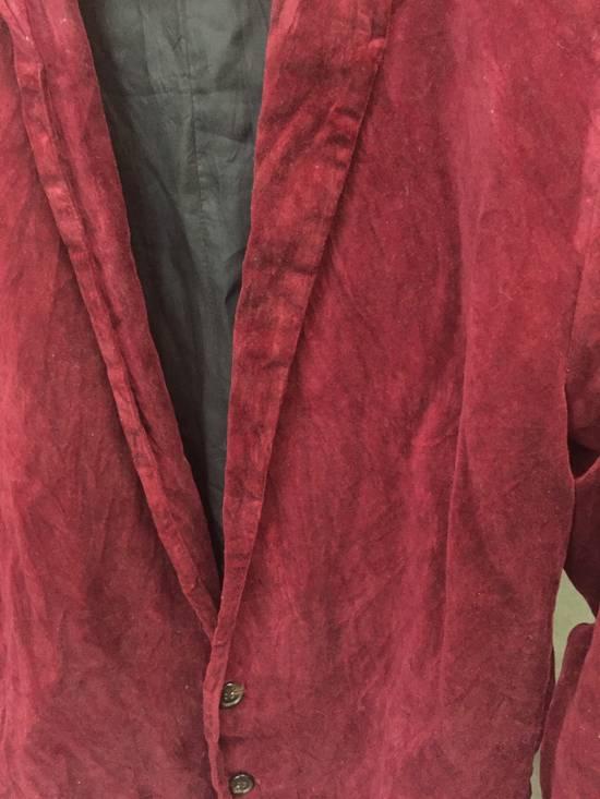 Julius AW03 Blood Red Velvet Blazer Size US M / EU 48-50 / 2 - 6