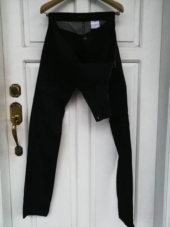 Julius MA JULIUS SS11 Black Denim with Zippered Waist Detail Size US 30 / EU 46